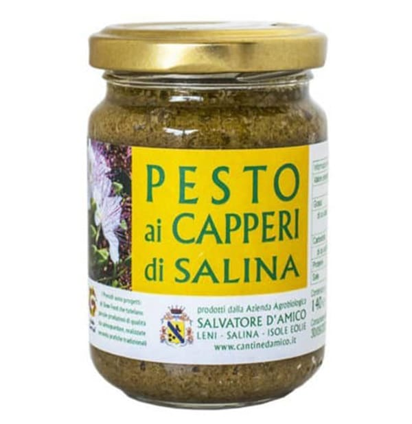 Pesto ai Capperi di Salina – D'Amico 140g