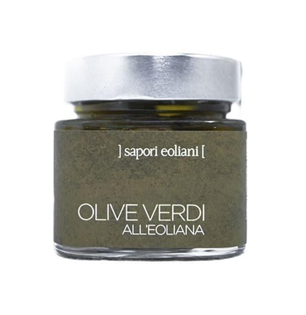 Olive Verdi Condite all'Eoliana 200g – Sapori Eoliani