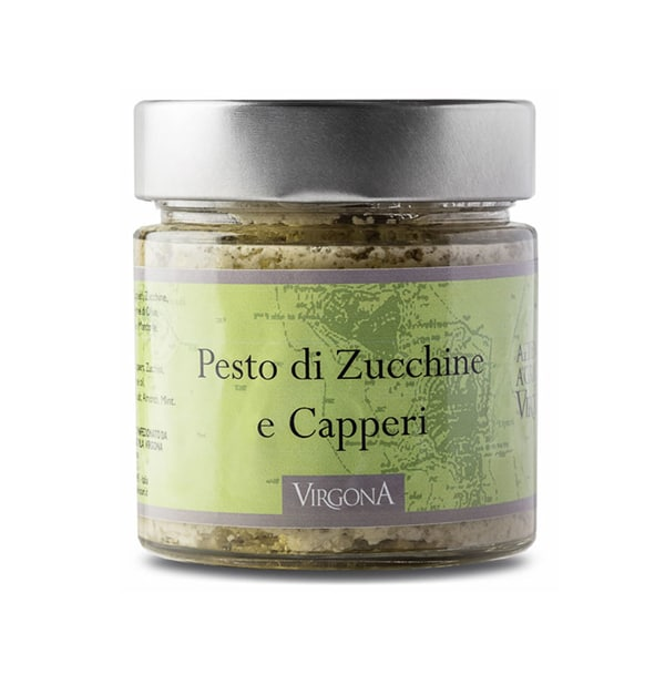 Pesto with Zucchini and Salina's Capers