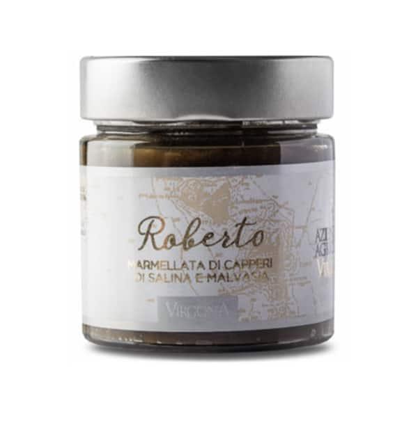 Roberto – Marmellata di Capperi di Salina e Malvasia 250g – Virgona