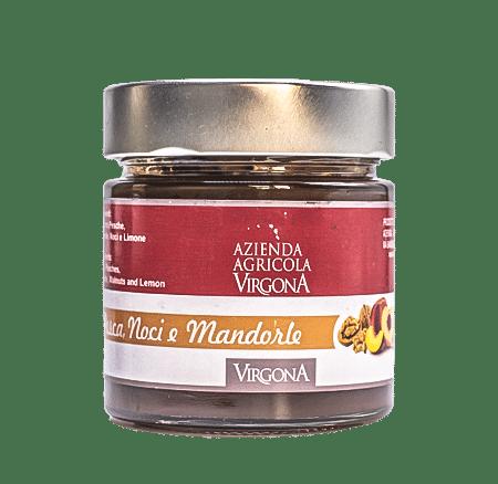 Marmellata di Pesca, Noci e Mandorle 250g – Virgona